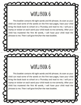 Word Book 6, Guided Reading