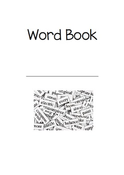 Word Book/Dictionary with Phonics images