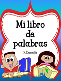 Word Book - Mi libro de palabras - in Spanish