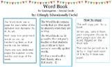 Word Book for Kindergarten and First Grade