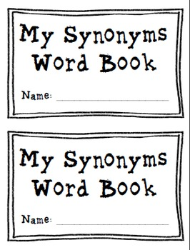Word Books: Synonyms