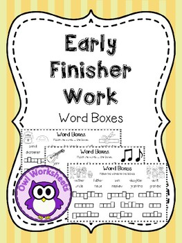 Early Finisher Work - Word Boxes