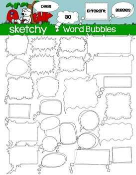 Speech / Word Bubble Clipart