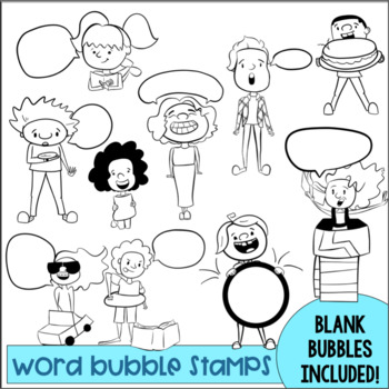 Word Bubble Stamps Set 1- 20% off first 48 hrs!