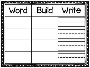 Word - Build - Write   Fry List