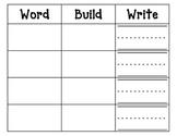 Word-Build-Write Kindergarten Sight Words