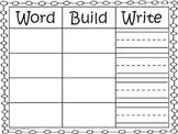 Word-Build-Write Mat - include Kindergarten Sight Word Cards