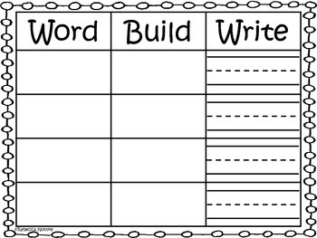 Word-Build-Write Mat - include Kindergarten Sight Word Cards