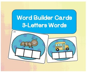 Word Builder Cards - 3 Letter Words