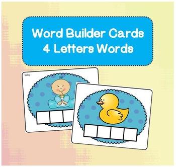 Word Builder Cards - 4 Letter Words