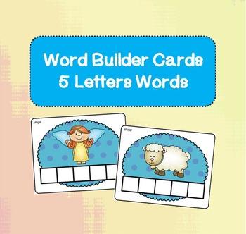 Word Builder Cards - 5 Letter Words