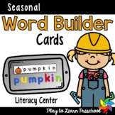 Word Builder Cards for each Season