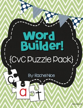 Word Builder! {CvC Word Puzzle Pack}