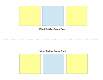 Word Builder Game