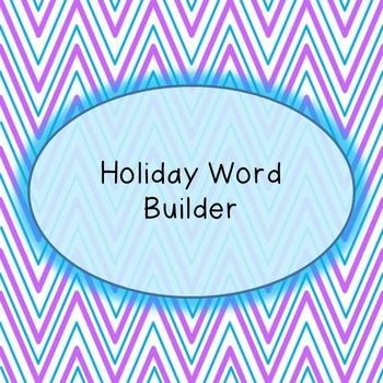 Word Builder - Holiday Bundle