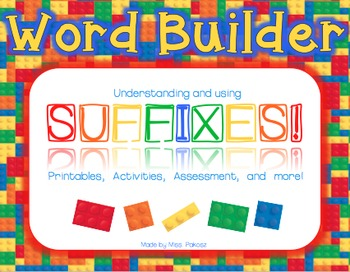 Word Builder - Suffix Activity Pack
