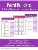 Word Builders - Builder Words with Letters and Sounds - Phonics Skill Workbook
