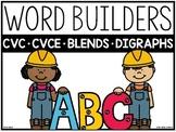 Word Builders (CVC, CVCE, Digraphs, Blends)
