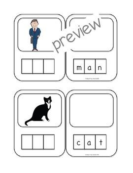 3 Letter Words For Pre K.Pre K K Word Building Cards 3 Letter Words