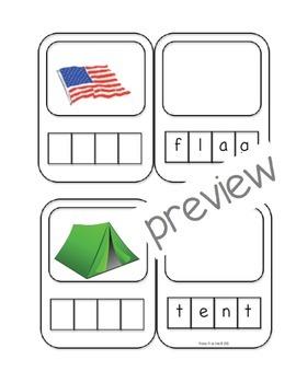 Pre-K/K Word Building Cards (4 letter words)