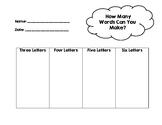 Word Building Activity