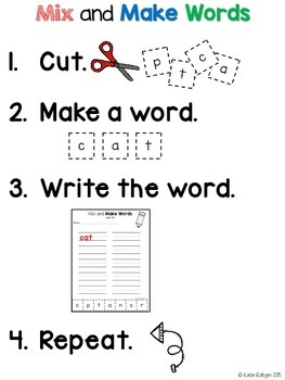 Word Building Activity {Mix and Make Words}