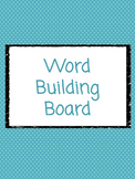 Word Building Board