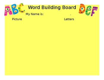 Word Building Bord - 3 letters