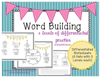 Word Building CVC words - 6 sets of Differentiated Practice