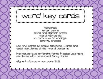 Word Building Cards & Activities