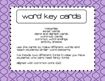 Word Building Cards & Activities