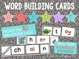 Word Building Cards Bundle: Vowel Teams, R-Controlled Vowels, Diphthongs!