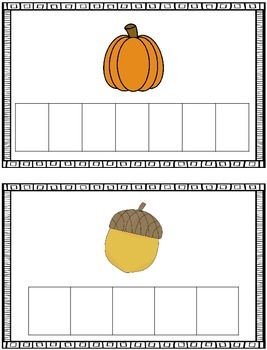 Word Building Cards - Fall/Autumn