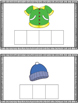 Word Building Cards - Winter