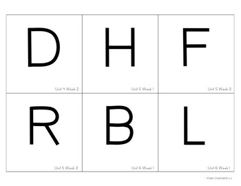 Reading Wonders Word Building Cards