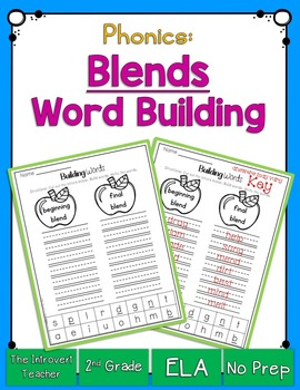 Word Building: Consonant Blends