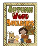 Word Building Easy Easels and Mystery Words, Autumn Theme Sets