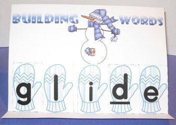 Word Building Easy Easels and Mystery Words, Winter Theme Sets