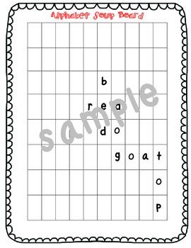 Word Building Game RF.1.3 RF.1.3a RF.1.3b RF.1.3c RF.1.3d Alhabet Soupp