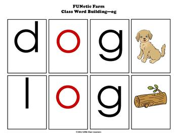 Word Building I - Word Families - for Literacy Centers