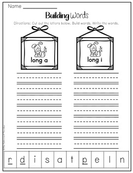 Word Building: Long A & I Sounds
