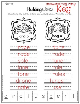Word Building: Long O & U Sounds