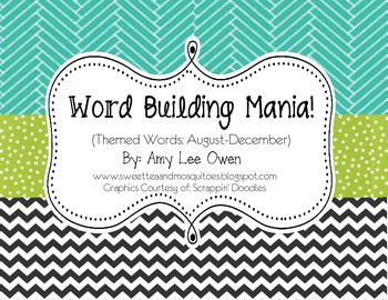 Word Building Mania (Monthly Themed Words)