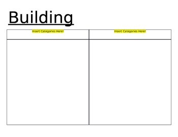Word Building Mat- Word Work/Word Sorts