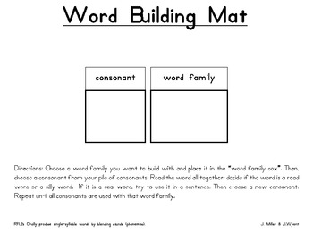 Word Building Mat and Pieces