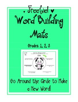 FREE Word Building Mats GR 1-3 (Word Ladder): Spelling, Rhyming, Phonics, Vocab