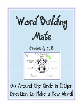 Word Building Mats GR 3-5 (Word Ladder): Spelling, Rhyming, Phonics, Vocabulary