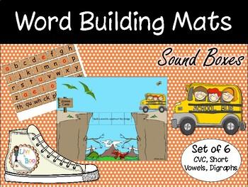 Word Building Mats / Sound Boxes (Set of 6)- CVC, CVCC, Digraphs