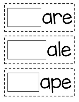 Word Building Mats for Long Vowels FREEBIE!