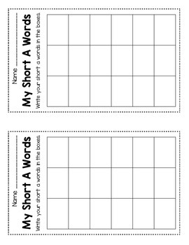 Word Building Mats for Short Vowels FREEBIE!